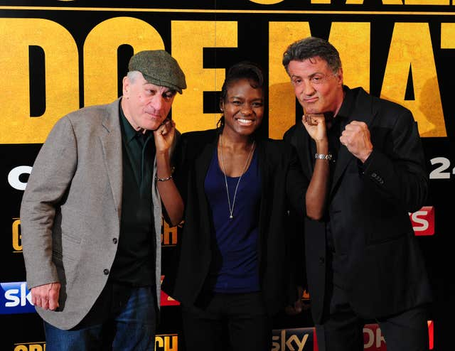 Adams met Robert De Niro and Sylvester Stallone at a premiere for film 'Grudge Match' in London
