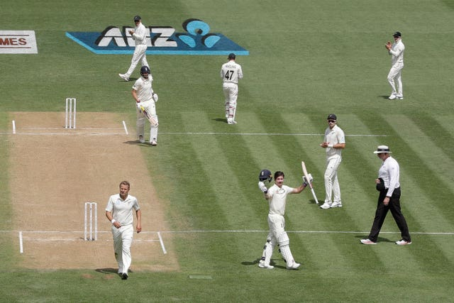 Rory Burns, bottom right, celebrates his hundred in the second Test