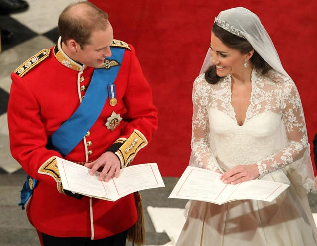 The Duke and Duchess of Cambridge got married on a Friday (Andrew Milligan/PA)