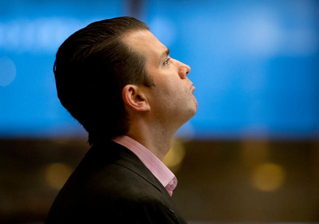 Mr Trump Jr claimed he was asked by WikiLeaks to leak his father's tax returns (AP)