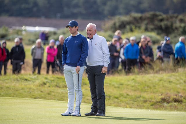 Rory McIlroy played with his dad Gerry during the Alfred Dunhill Links Pro-am event
