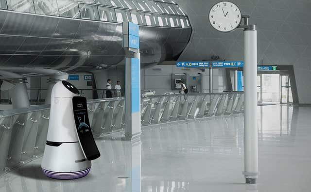 LG's Airport Guide Robot