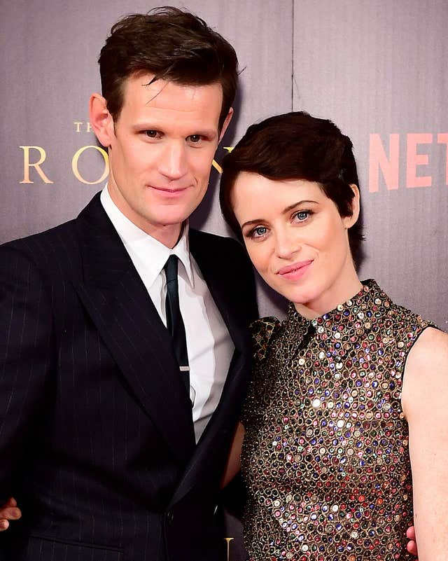 The Crown stars Matt Smith and Claire Foy (PA)