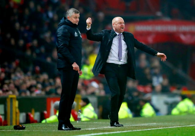 Defeat to Burnley ramped up the pressure on Ole Gunnar Solskjaer (left)