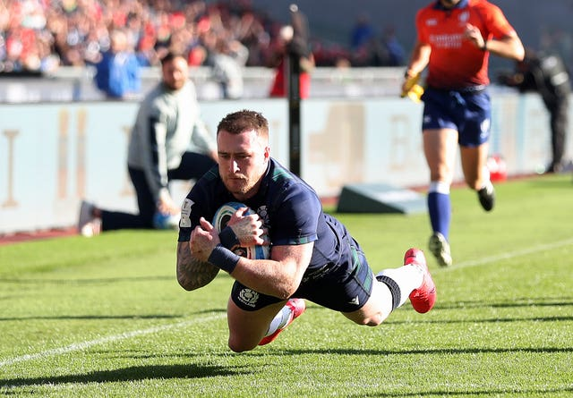 Hogg scored his 20th try for Scotland in Rome