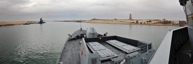 HMS Daring in the Suez Canal