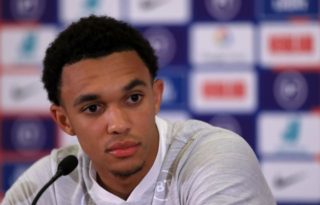 Trent Alexander-Arnold was on media duty ahead of England's next set of Euro qualifiers