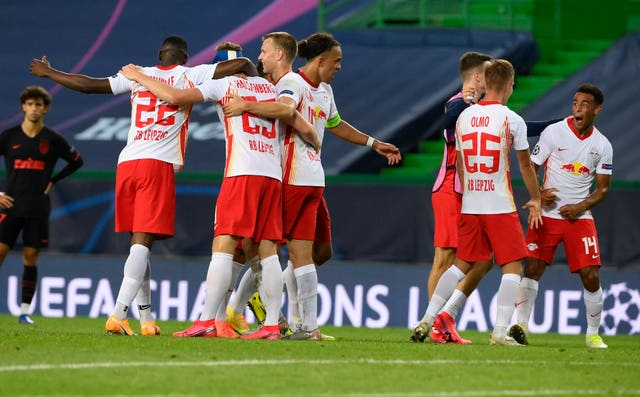 Leipzig claimed a shock win over Atletico Madrid