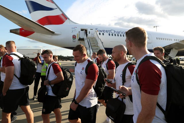 England Departure to Japan