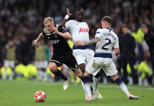 Donny Van De Beek (left) has impressed in the Champions League
