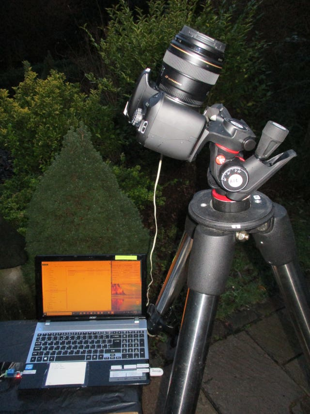 The equipment used by Basingstoke Astronomical Society to help the MoD