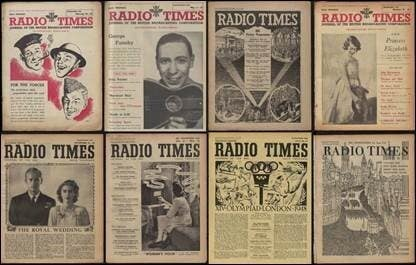 Radio Times magazine issues dated from the 1940s