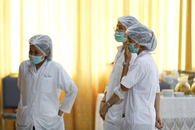 Hospital staff in Thailand