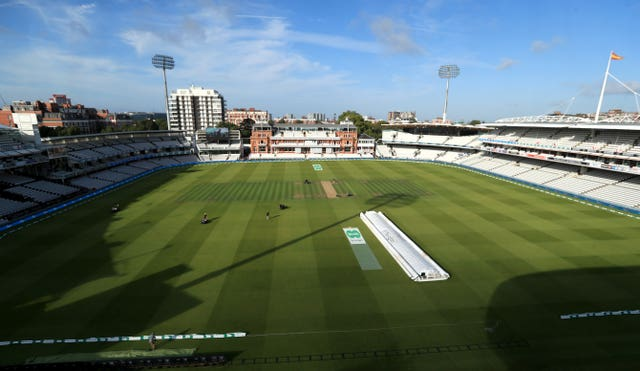 Cricket grounds, such as Lord's, may play host to England games behind closed doors (Mike Egerton/PA)