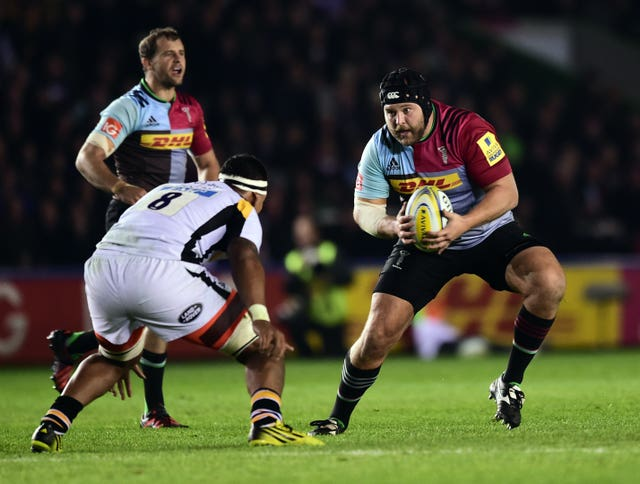 Harlequins' Mark Lambert, right, is RPA chairman