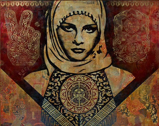 An art piece by Shepard Fairey