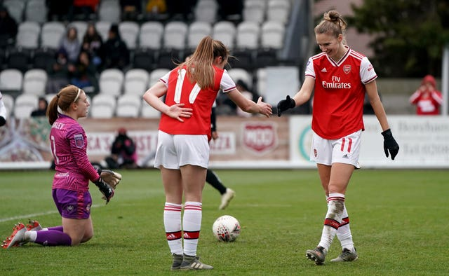 Vivianne Miedema scored six goals as Arsenal beat Bristol City 11-1 in the Women's Super League
