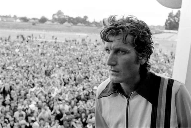 Willis in the pavilion at Headingley after he bowled England to a sensational victory over Australia in 1981