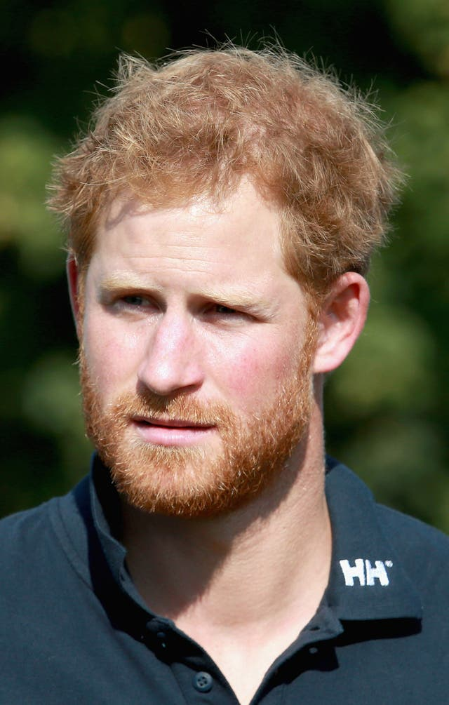 Prince Harry sporting a beard in 2015 (Chris Jackson/PA)
