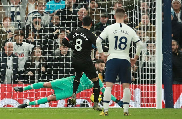 Gundogan was denied by Hugo Lloris on Sunday