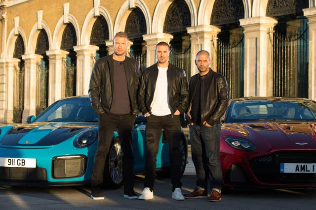 Andrew 'Freddie' Flintoff, Paddy McGuinness and Chris Harris