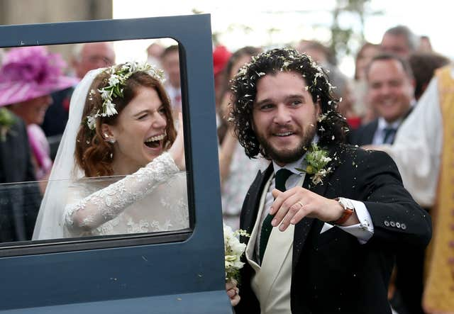 Kit Harington and Rose Leslie after their wedding