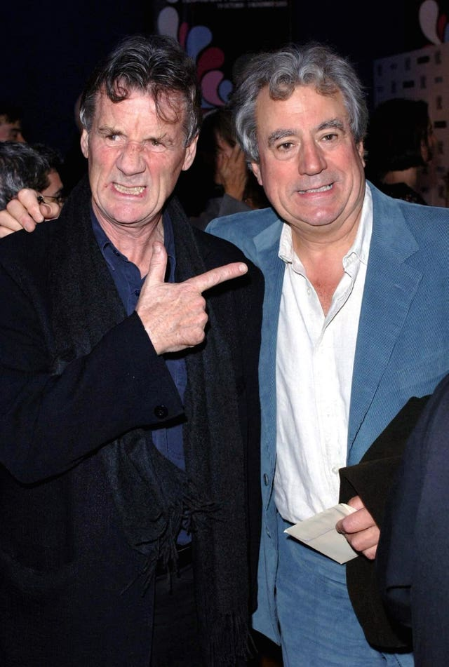 The late Terry Jones (right) with Sir Michael Palin