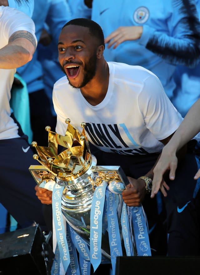Sterling's brilliant season was capped with the Premier League trophy