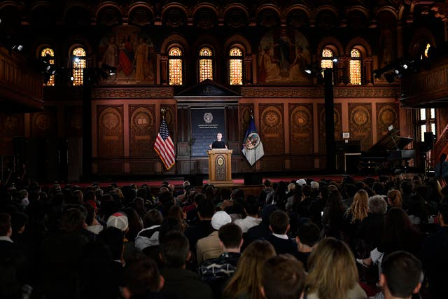 Facebook CEO Mark Zuckerberg speaks at Georgetown University