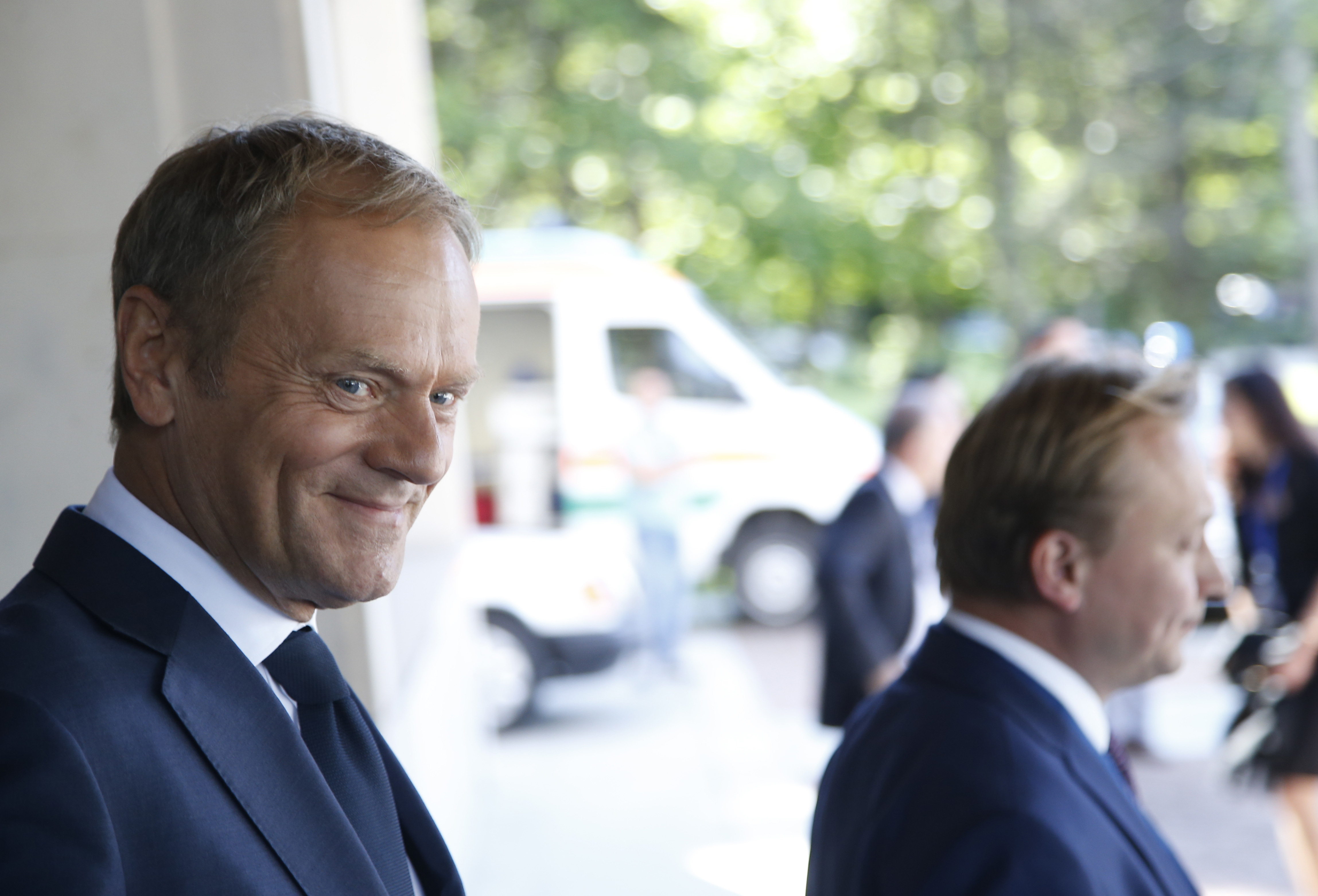 European Union  chief Tusk chides Trump for 'capricious' policies