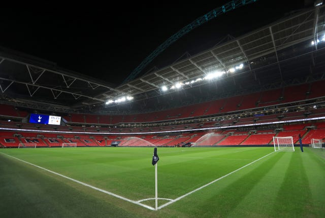 A view of the pitch at Wembley. (PA)