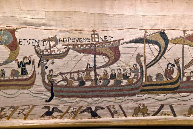 Undated handout photo issued by the Bayeux Museum of a section of the Bayeux Tapestry. (Bayeux Museum/PA)
