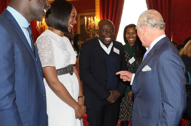 The Prince of Wales with Edward Enninful