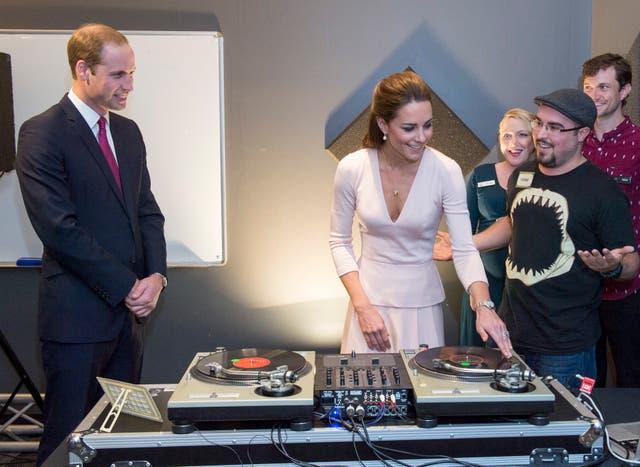 The Duke and Duchess of Cambridge spinning decks on a royal visit in New Zealand (Arthur Edwards/The Sun/PA)