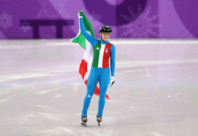 Italy's Arianna Fontana won gold ahead of Elise Christie