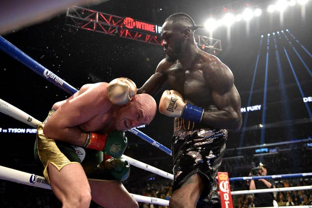 Wilder was trying his best to land some punches