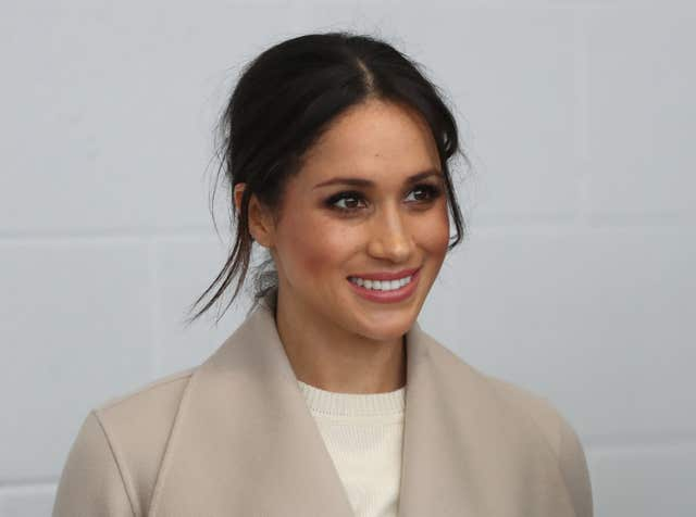 Meghan during a visit to the Eikon Exhibition Centre in Lisburn (Niall Carson/PA)