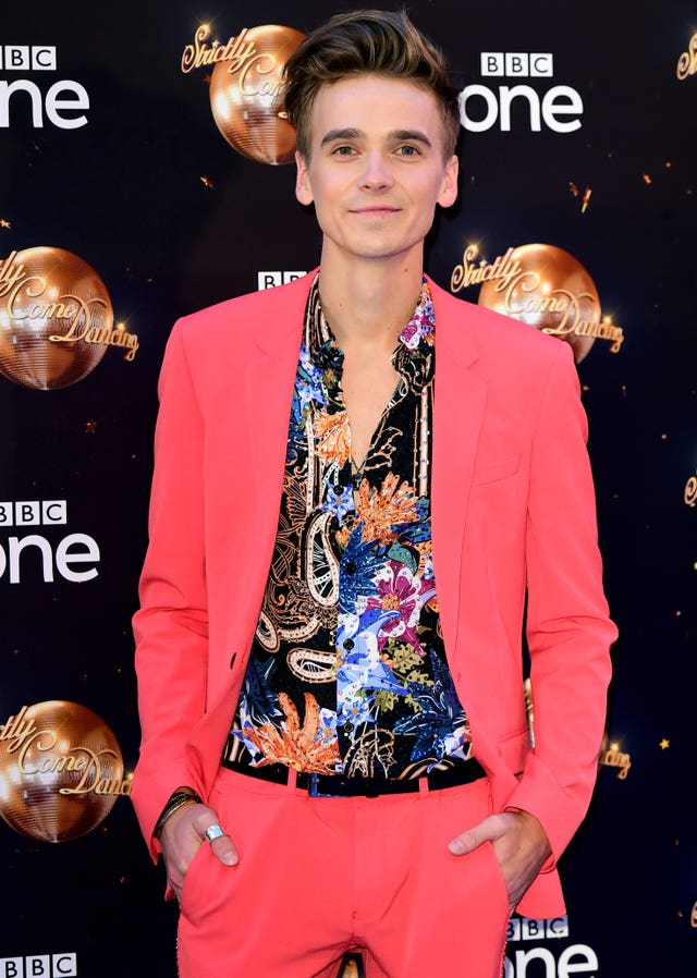 Joe Sugg at the Strictly Come Dancing