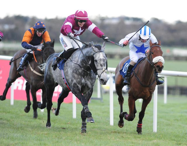 The grey Eviscerating and Evan Daly just got up to win at Naas