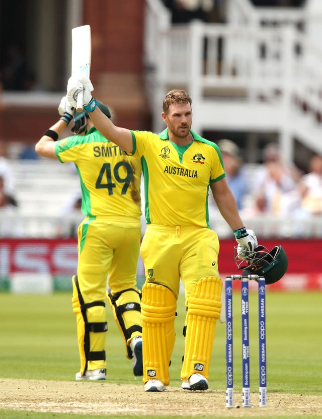 Captain Aaron Finch anchored the Australia innings with a century