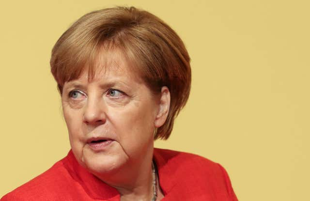 German Chancellor Angela Merkel (Matt Cardy/PA)