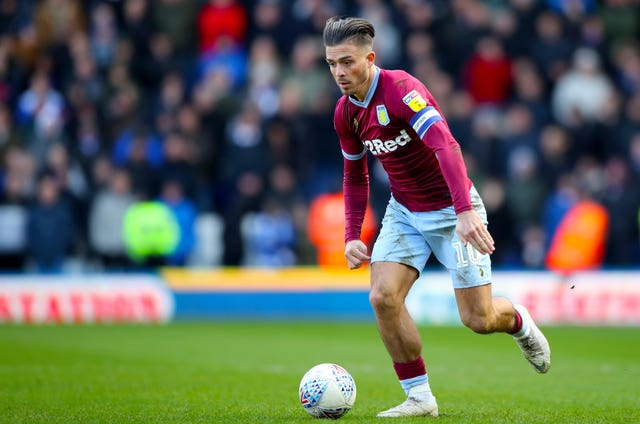 Aston Villa's Jack Grealish was attacked by a fan during his side's derby at Birmingham