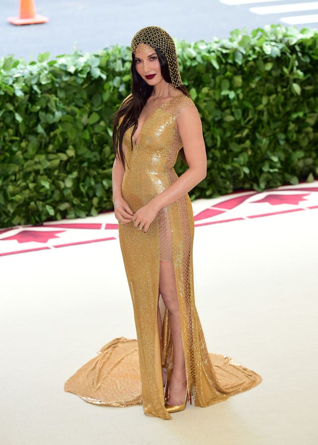 Olivia Munn is a golden vision (Ian West/PA)