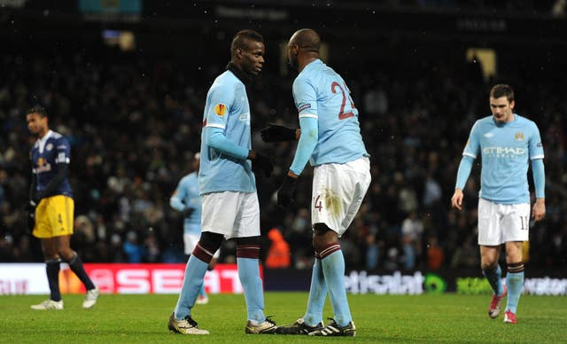 Balottelli and Vieira played together at Manchester City