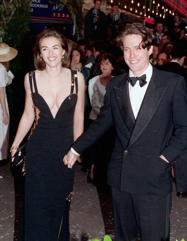 'Four Weddings and a Funeral' Premiere – Hugh Grant and Liz Hurley – London