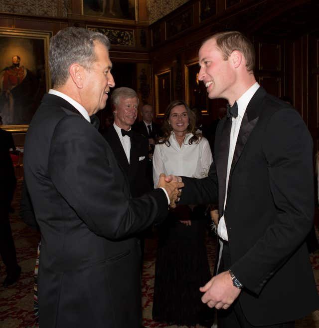 The Duke of Cambridge with Mario Testino