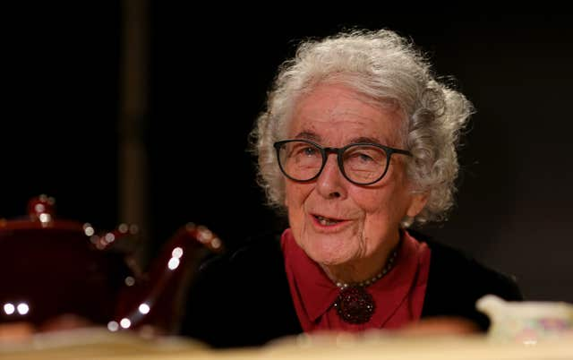 Judith Kerr at the Storystock Festival at Circus West Village, Battersea Power Station, London (Gareth Fuller/PA)