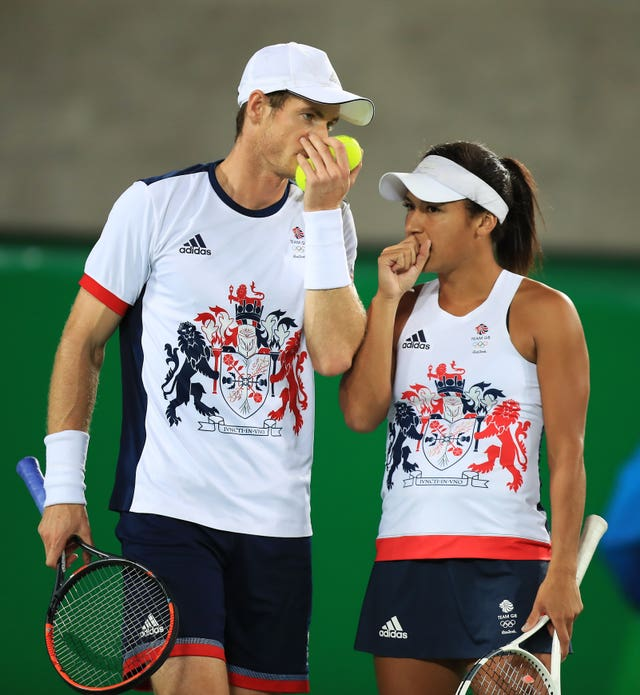 Andy Murray and Heather Watson at the Olympics