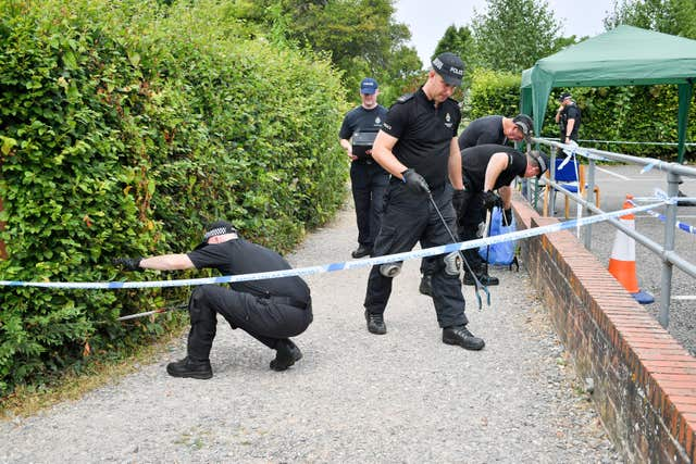 Police conduct searches of Queen Elizabeth Gardens in Salisbury