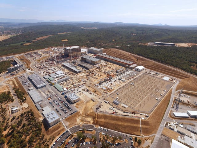 Aerial view of The International Thermonuclear Experimental Reactor (Iter) under construction in southern France. (ITER)